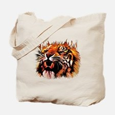 Fire Power Tiger Tote Bag