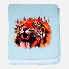 Fire Power Tiger baby blanket