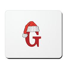 Letter G Christmas Monogram Mousepad