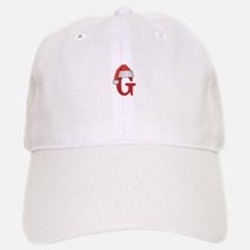 Letter G Christmas Monogram Baseball Baseball Cap