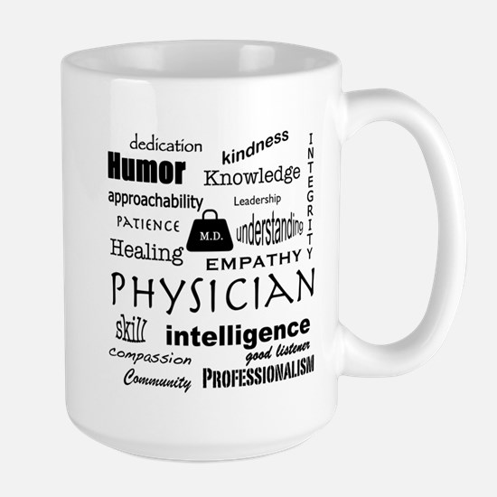 Physician Word Cloud/black+medical Bag Mugs