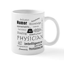 Physician Word Cloud/Black+Medical Bag Mugs