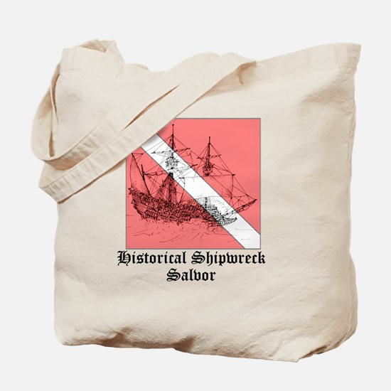 2-15th_century_galleon storm overlay Tote Bag