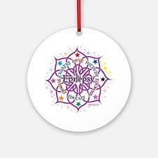 Epilepsy-Lotus Round Ornament
