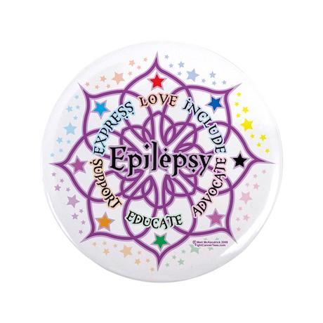 """Epilepsy-Lotus 3.5"""" Button"""
