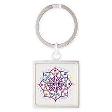 Epilepsy-Lotus Square Keychain