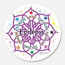 Epilepsy-Lotus Round Car Magnet