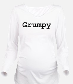 grumpy.png Long Sleeve Maternity T-Shirt