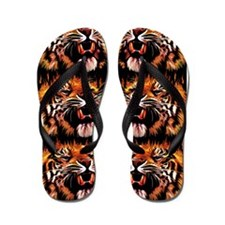Fire Power Tiger Flip Flops