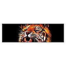 Fire Power Tiger Bumper Bumper Sticker