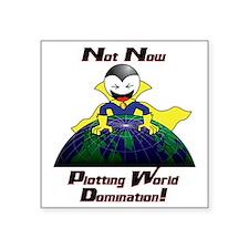 """WorldDomination Square Sticker 3"""" x 3"""""""