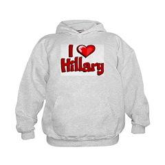 I Love Hillary Hoodie