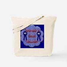 worlds best teacher background Tote Bag