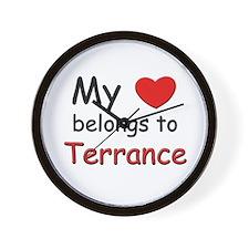 My heart belongs to terrance Wall Clock