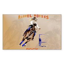 Barrel Horses Rock-Yardsign Decal