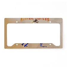 Barrel Horses Rock-Yardsign License Plate Holder