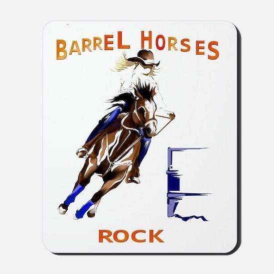 Barrel Horses Rock Trans Mousepad