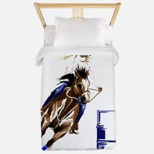 Barrel Horses Rock Trans Twin Duvet