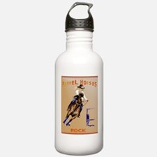 Barrel Horses Rock Pos Water Bottle