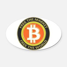 Bitcoin-8 Oval Car Magnet