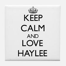 Keep Calm and Love Haylee Tile Coaster