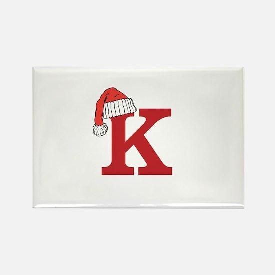Letter K Christmas Monogram Magnets