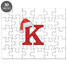Letter K Christmas Monogram Puzzle
