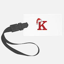 Letter K Christmas Monogram Luggage Tag