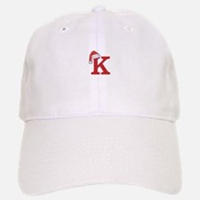 Letter K Christmas Monogram Baseball Baseball Cap