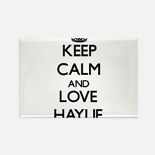 Keep Calm and Love Haylie Magnets