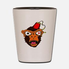 MonkeeFace_color Shot Glass