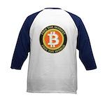 Bitcoin-8 Kids Baseball Jersey