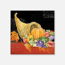 "Harvest Thanksgiving Fall C Square Sticker 3"" x 3"""