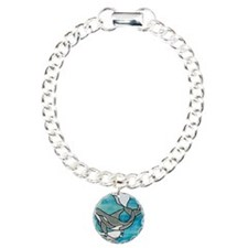 whale stained glass Bracelet