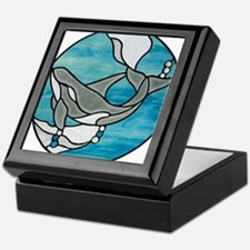 whale stained glass Keepsake Box