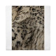 Snow Leopard Print Queen Duvet