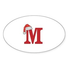 Letter M Christmas Monogram Decal