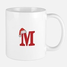 Letter M Christmas Monogram Mugs