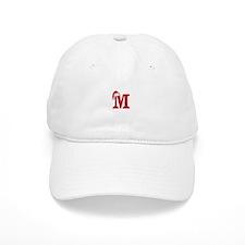 Letter M Christmas Monogram Baseball Cap