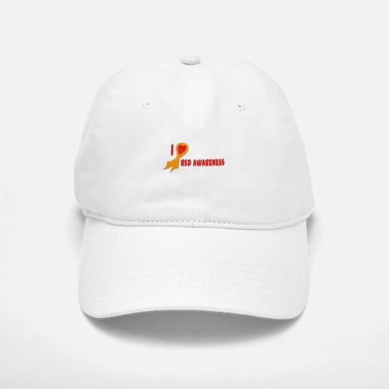 Orange I Heart/Support Rsd Awareness Baseball Baseball Cap