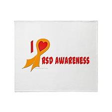 Orange I Heart/Support Rsd Awareness Stadium Blank