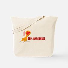 Orange I Heart/Support Rsd Awareness Tote Bag