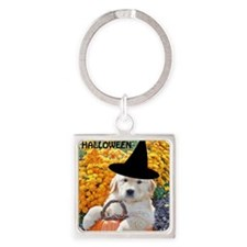 Halloween Decor Poster, Funny Pupp Square Keychain