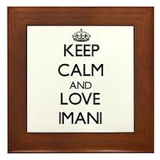 Keep Calm and Love Imani Framed Tile