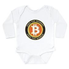 Bitcoin-8 Long Sleeve Infant Bodysuit