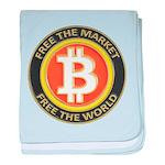 Bitcoin-8 baby blanket