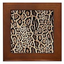 Leopard effect Framed Tile