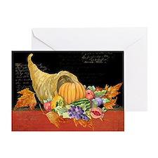 Harvest Thanksgiving Fall Cornucopia Greeting Card