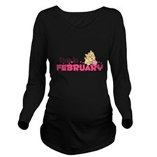 Due In February Long Sleeve Maternity T-Shirt