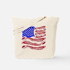 American Bacon Flag Tote Bag